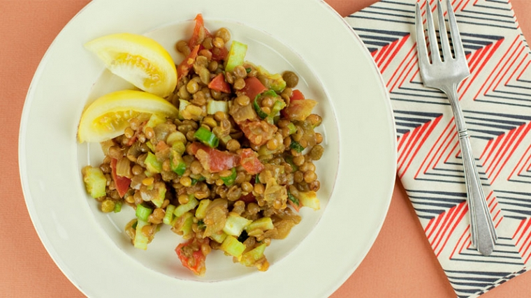 Lentil Curry Salad