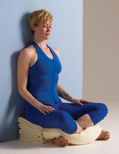 a sitting pose for lotuschallenged yogis