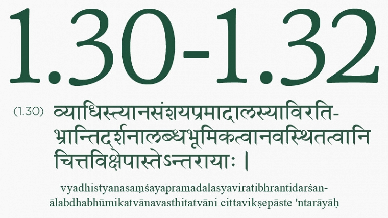 Yoga Sutra 1.3-1.32